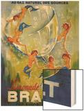Limonade Brault Vintage Poster - Europe Wood Print by  Lantern Press