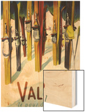 Valais, Switzerland - The Land of Sunshine Wood Print by  Lantern Press
