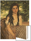In Summer (Lise or the Gypsy) Wood Sign by Renoir Pierre-Auguste