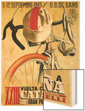 Cartel de carrera ciclista Wood Print por Lantern Press