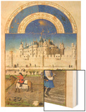 Le Tres Riches Heures Du Duc De Berry - October Wood Print by Paul Herman & Jean Limbourg