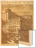 Carnegie Hall, New York City Wood Print