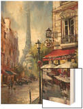 Tour De Eiffel View Wood Print by Brent Heighton
