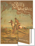 Buffalo Bill's Wild West Show Poster, Indian Brave Wood Print