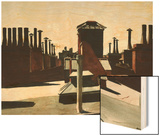 Roofs of Washington Square Wood Print by Hopper Edward