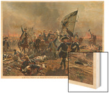 Battle of Zorndorf Friedrich Der Grosse Leads His Soldiers Wood Print by C. Rochling