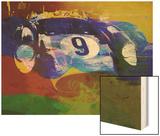 Ferrari Testarossa Watercolor Wood Print by  NaxArt