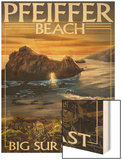 Pfeiffer Beach, California Wood Print by  Lantern Press
