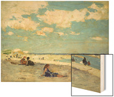 Long Beach Wood Print by Edward Henry Potthast