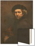 Self-Portrait Wood Print by  Rembrandt van Rijn