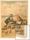 The Walrus and the Carpenter Wood Print by John Tenniel