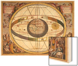 Representation of Ptolemy's System Showing Earth Wood Print by Andreas Cellarius