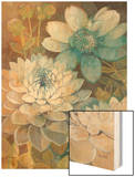 Pretty Blue Dahlias 2 Wood Print by Vera Hills