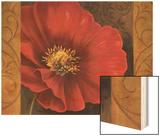 Pavots Rouges I Wood Print by Jordan Gray