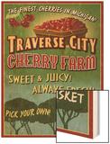 Traverse City, Michigan - Cherry Farm Posters by  Lantern Press