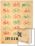 Life is a Wild Ride Poster III Wood Print by  NaxArt