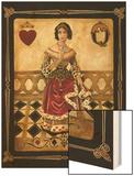 Harlequin Queen Wood Print by Gregory Gorham