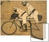 Ramon Casas and Pere Romeu on a Tandem Wood Print by Ramon Casas Carbo