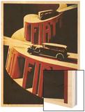 1930's Fiat Car Wood Print