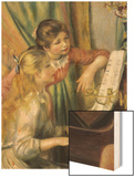 Two Young Girls at the Piano Wood Print by Pierre-Auguste Renoir