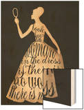 Script Dress Wood Print by Lisa Jones