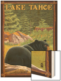 Bear in Forest - Lake Tahoe, California Poster by  Lantern Press