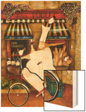 Chef in Paris Wood Print by Jennifer Garant