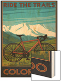 Mountain Bike - Colorado Wood Print by  Lantern Press