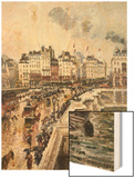 The Pont-Neuf, Afternoon of Rain Poster by Pissarro Camille