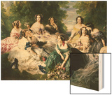 Portrait of the Empress Eugenie Surrounded by Her Ladies in Waiting Prints by Franz Xavier Winterhalter