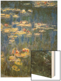Waterlilies: Green Reflections Wood Print by Monet Claude