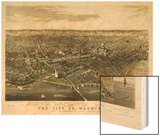 1880, Washington 1880c Bird's Eye View, District of Columbia, United States Print