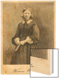 Florence Nightingale Nurse Hospital Reformer and Philanthropist Wood Print by Timothy Cole
