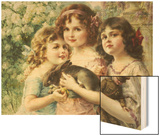 The Three Graces Wood Print by Emile Vernon