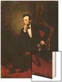 Abraham Lincoln Wood Print by George P.A. Healy