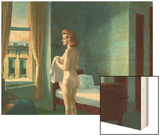 Morning in a City Wood Print by Hopper Edward