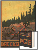 Breckenridge, Colorado - Mountain Bike Wood Print by  Lantern Press