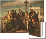 Titian Meets the Young Veronese on Ponte Della Paglia Wood Print by Antonio Zona