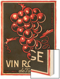 Vin Rouge Label Prints