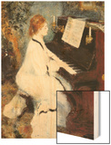 Woman at the Piano, 1875/76 Wood Sign by Renoir Pierre-Auguste
