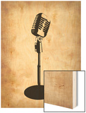 Vintage Microphone Poster