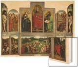 The Ghent Altarpiece or Adoration of the Mystic Lamb Wood Print by Hubert & Jan Van Eyck