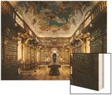 Melk Abbey, Library Wood Print by Jakob Prandtauer