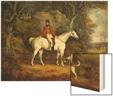 Viscount Rowland Hill on His Grey Hunter with the Shropshire Hunt Wood Print by Richard Jones