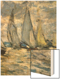 The Boats, or Regatta at Argenteuil Wood Print by Monet Claude