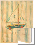 Sailboat Wood Print by Catherine Richards