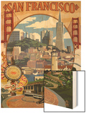 San Francisco, California Scenes Print by  Lantern Press