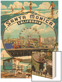 Santa Monica, California - Montage Scenes Prints by  Lantern Press