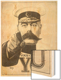 Your Country Needs You, Featuring Lord Kitchener Wood Print by Alfred Leeze