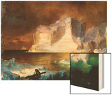 Iceberg Wood Print by Frederic Edwin Church